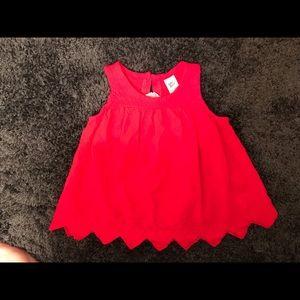Oshkosh baby girl sleeveless blouse